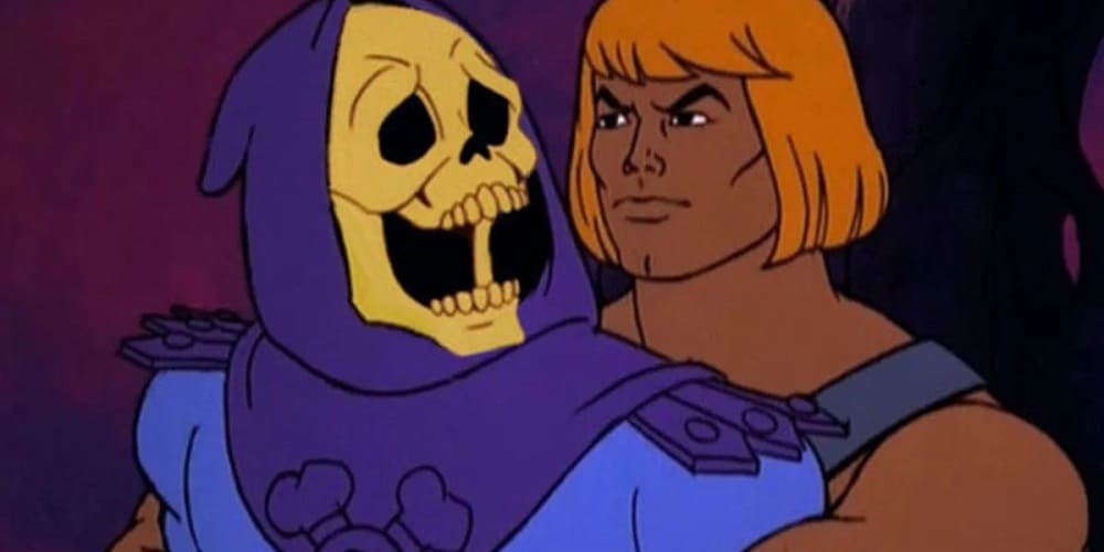 Sony Pictures' He-Man Movie Delayed Skeletor He-Man hug Sony Pictures' He-Man movie delayed