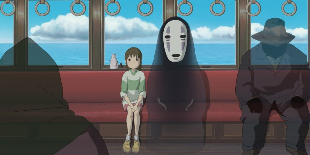 A scene from the Studio Ghibli movie, Spirited Away.