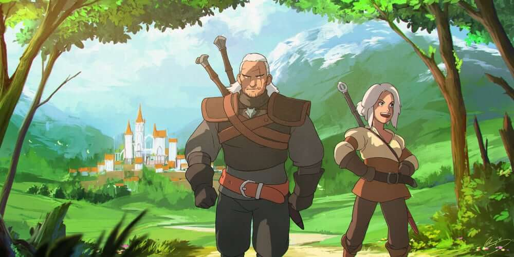 The Witcher Anime concept art