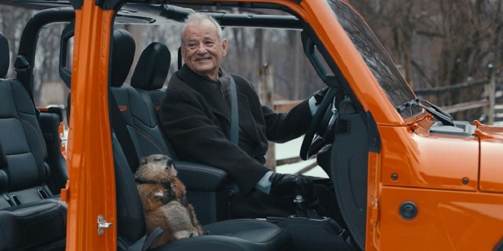 Bill Murray Groundhog Day Jeep Super Bowl Commercial