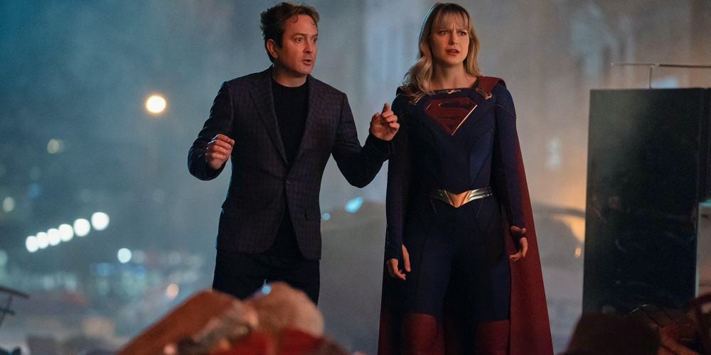 SUpergirl 100th Episode Thomas Lennon Melissa Benoist Destruction