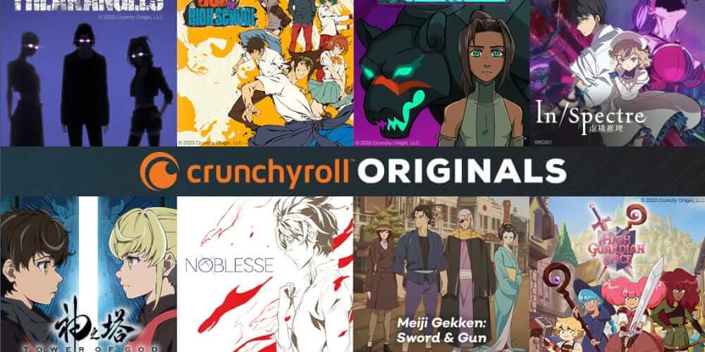 Crunchyroll Originals announcement poster.