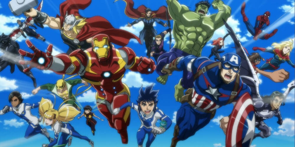 Marvel Future Avengers anime featured image.