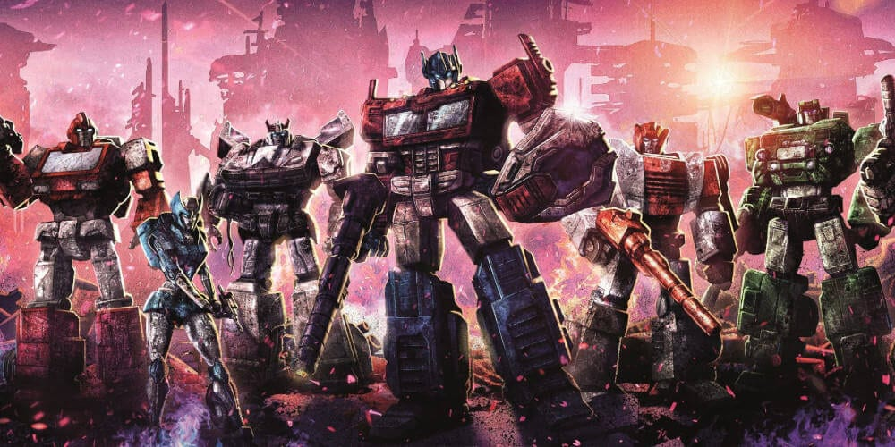 Netflix's Transformers anime trailer poster.