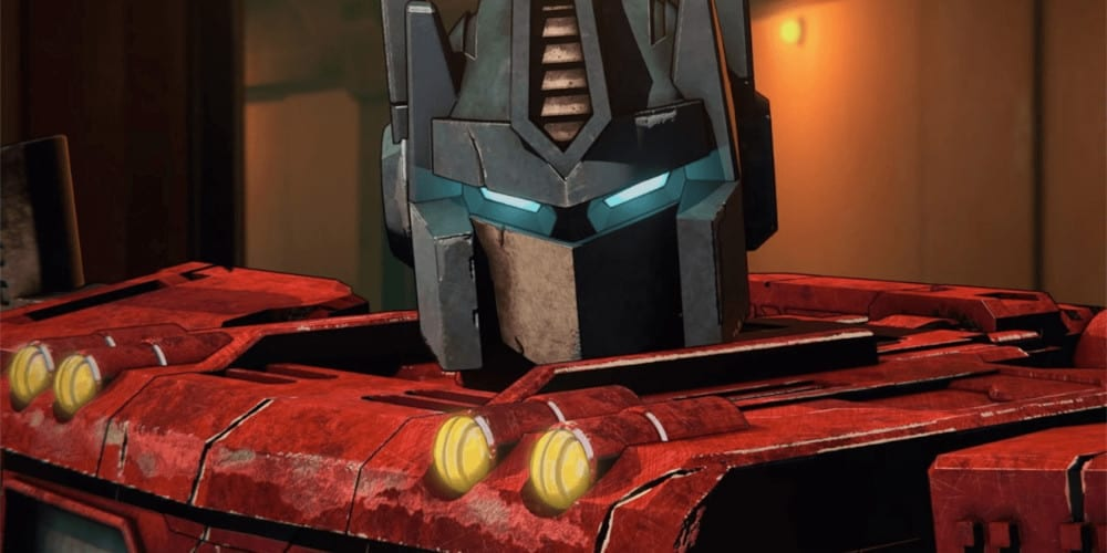 Netflix's Transformers anime trailer image.