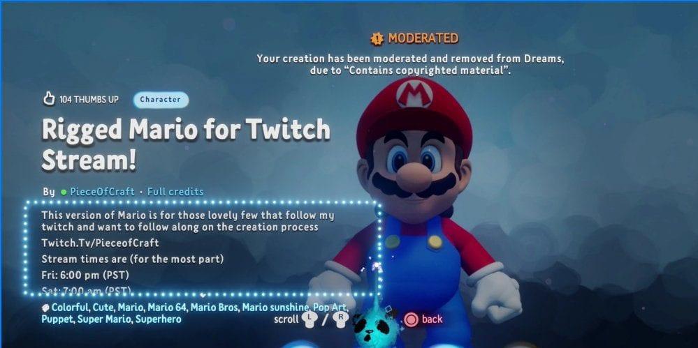 Nintendo is Fighting Dreams Creations