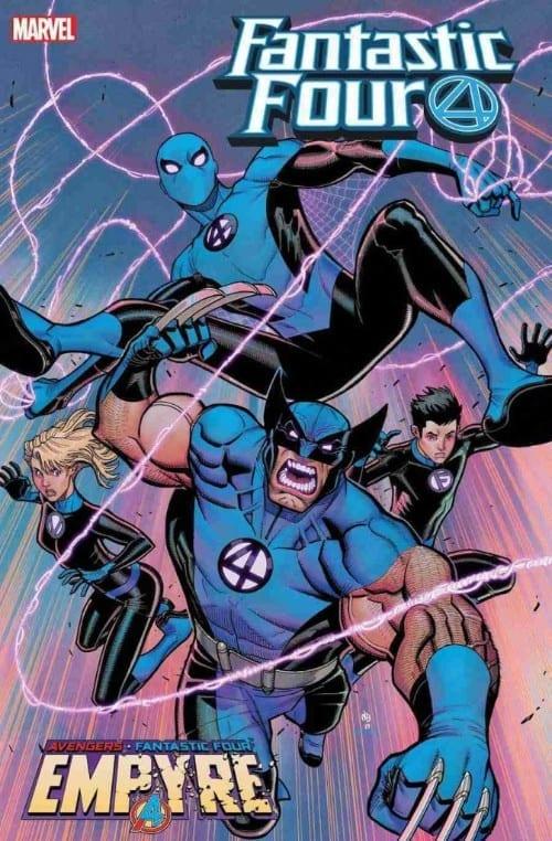 Wolverine, Spider-Man, Fantastic Four, Franklin Richards