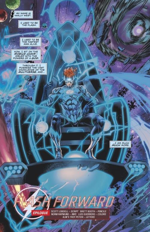 Wally West, Tempus Fuginaut, Multiverse, Dr. Manhattan, Mobius Chair