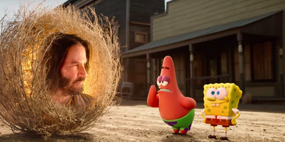 Covid-19 Early Release Movies, Spongebob, Keanu Reeves, Patrick, Nickelodeon, Social Distancing