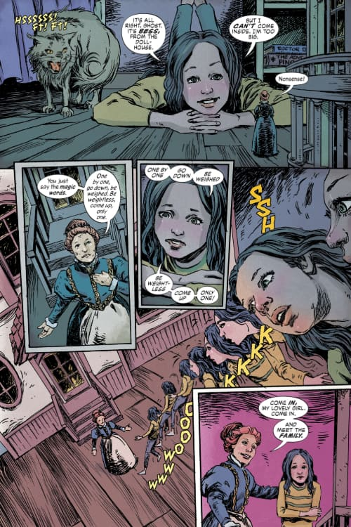 Social Distancing, Comics, Hill House Comics, DC Black Label, Mike Carey, Joe Hill, The Dollhouse Family, Daphne Byrne, The Low Low Woods, Basketful of Heads, Plunge