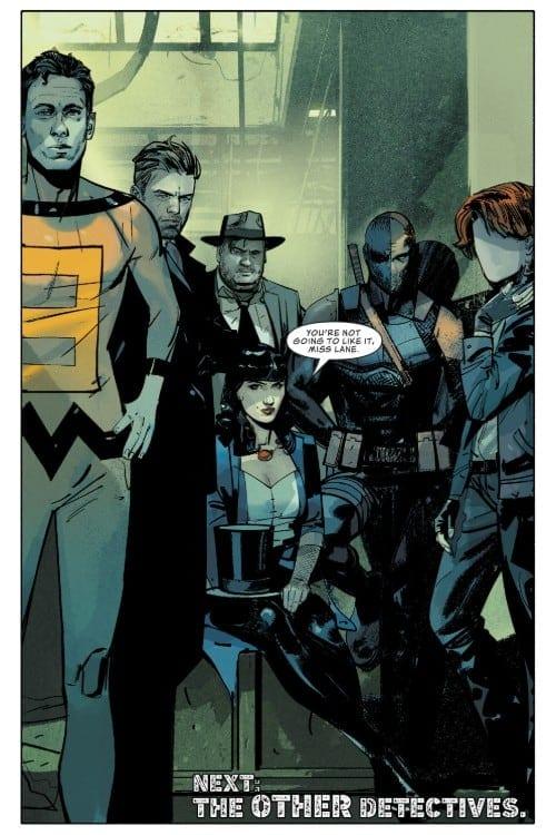 DC Comics, Batman, Lois Lane, Superman, Green Arrow, Batgirl, The Question, Renee Montoya, Manhunter, Plastic Man, Elongated Man, Zatanna, John Constantine, Deathstroke, Vic Sage, Gotham