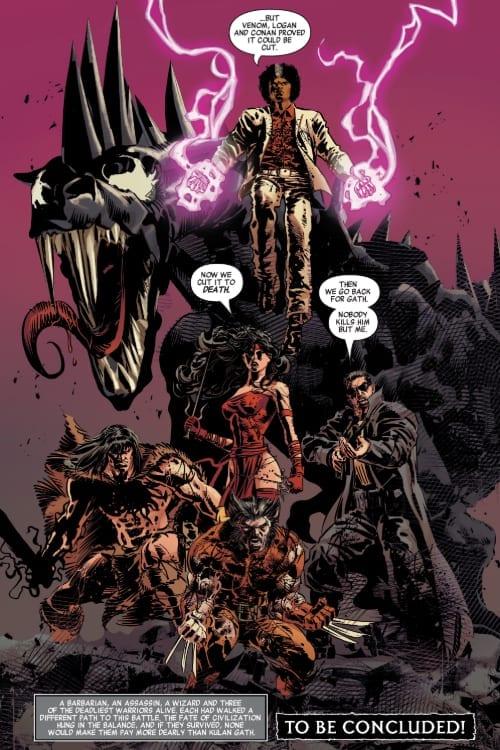 Social Distancing, Comics, Marvel Comics, Savage Avengers, Wolverine, Venom, Punisher, Doctor Voodoo, Venom, Doctor Doom, Doctor Strange, Conan the Barbarian, Gerry Duggan