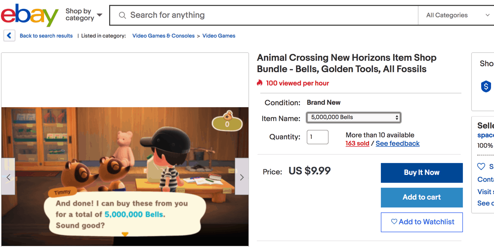 animal crossing items on ebay