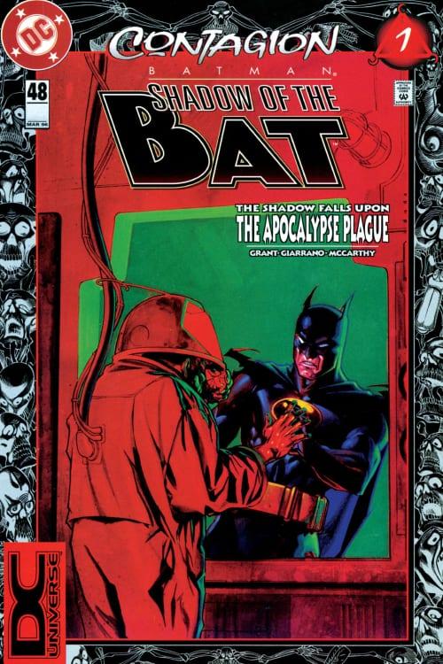 Batman: Contagion, Pandemic, COVID-19, Robin, Azrael, Batman, DC Comics, Knightfall, Cataclysm, superhero comics, Catwoman, Huntress, Apocalypse Plague, Coronavirus