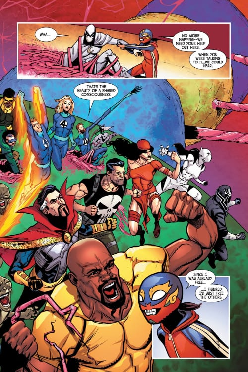 Marvel's Contagion, Ed Brisson, Contagions, Fantastic Four, Reed Richards, Human Torch, Invisible Woman, Elektra, Punisher, Wrecking Crew, Mole Man, Doctor Strange, White Tiger, Like Cage, Moon Knight, Iron Fist, Thing, Jessica Jones, Coronavirus, COVID-19, Social Distancing