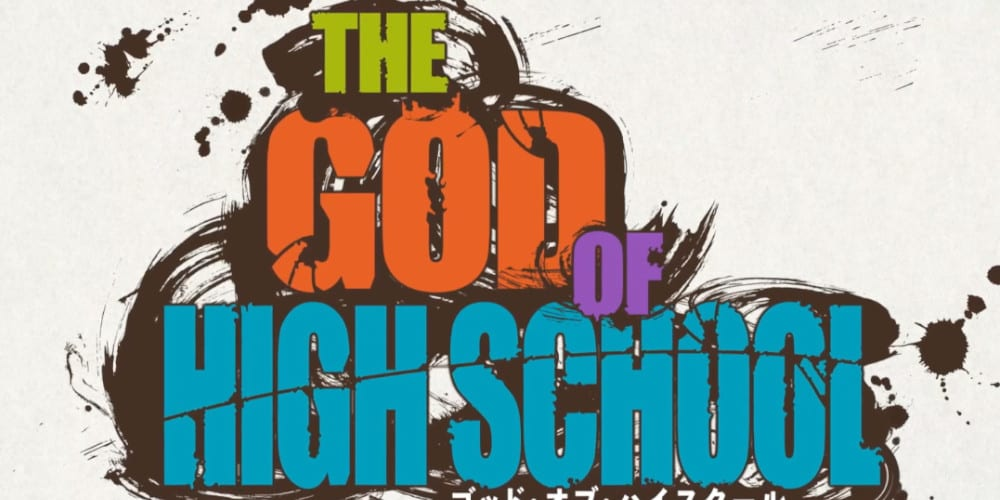God Of High School anime trailer logo.