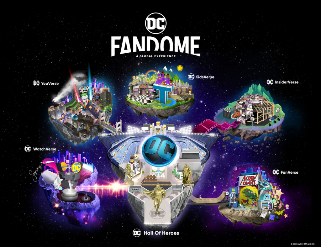 DC FanDome virtual fan event neighborhood map