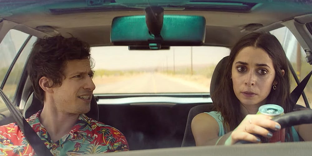 Palm Springs Hulu Trailer Christine Milioti andy samberg car