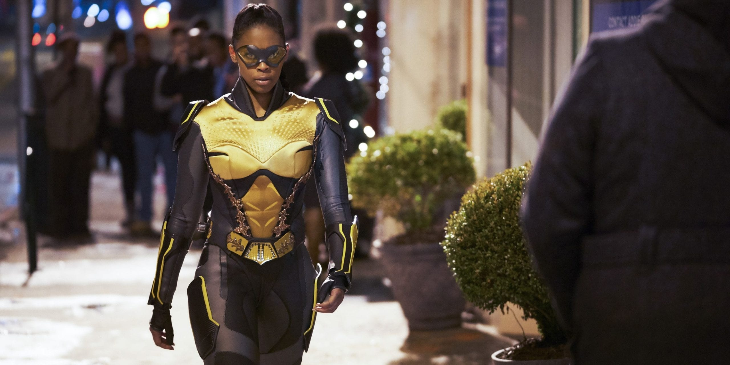 first black lesbian superhero on TV Black Lightning Anissa Nafessa Williams Thunder Featured