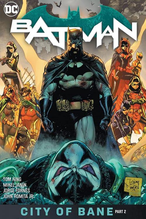 Bane, Batman, Batwoman, Nightwing, Robin, Orphan, Batgirl, Alfred, Catwoman, Huntress, the Signal, Tom King, John Romita Jr