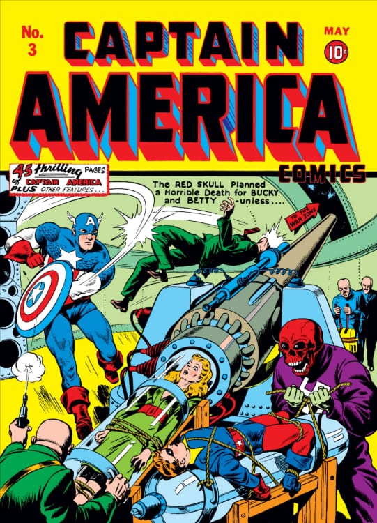 Captain America, Steve Rogers, Bucky Barnes, Sam Wilson, Stan Lee, Jack Kirby, Joe Simon, Marvel Comics, World War II, Anti-Fascist, the Avengers, Mark Waid, Nick Spencer, Ed Brubaker, Death of the Dream, Rick Remender, Red Skull, Winter Soldier, Hydra, Sharon Carter, Peggy Carter