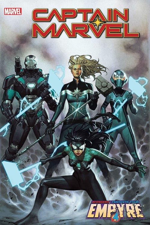 Captain Marvel, Spider-Woman, War Machine, Kree, Ronan the Accuser, the Accuers, Skrulls, Kelly Thompson, Marvel Comics
