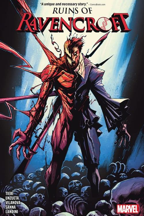 Marvel Comics You Should Read in July, Ravencroft, Frank Tieri, Ruins of Ravencroft, Spider-Man, Carnage, Venom, Donny Cates, Mr. Sinister, Kingpin, Sabretooth, Dracula, Captain America, Arkham Asylum