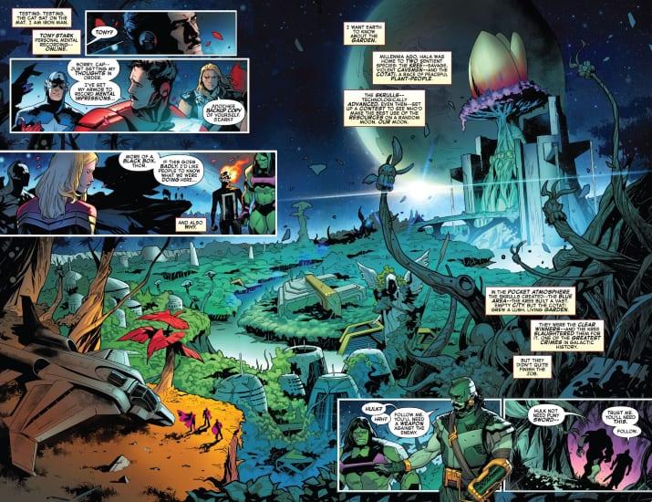 Avengers/FF: Empyre #1, Valerio Schiti, Dan Slott, Al Ewing, Marvel Comics