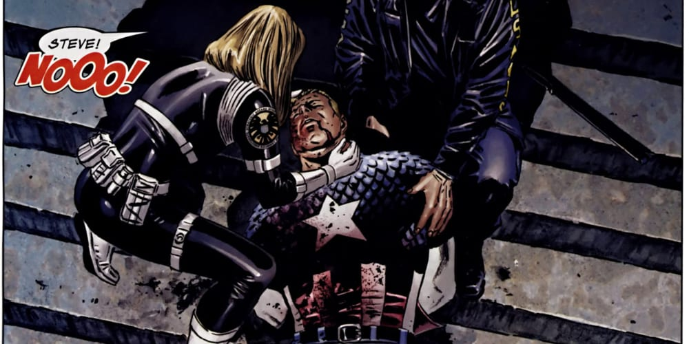 Bucky Barnes, Sam Wilson, Stan Lee, Jack Kirby, Joe Simon, Marvel Comics, World War II, Anti-Fascist, the Avengers, Mark Waid, Nick Spencer, Ed Brubaker, Death of the Dream, Rick Remender, Red Skull, Winter Soldier, Hydra, Sharon Carter, Peggy Carter, Chris Evans, Hugo Weaving, Joe Johnston, Russo Brothers, Death of the Dream, Bucky Cap, Sharon Carter