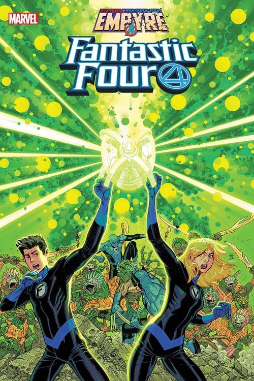 Marvel's Empyre September Checklist, Avengers, Fantastic Four, Human Torch, Black Panther, Captain Marvel, Invisible Woman, Iron Man, Thing, Mr. Fantastic, Captain America, Kree, Skrulls