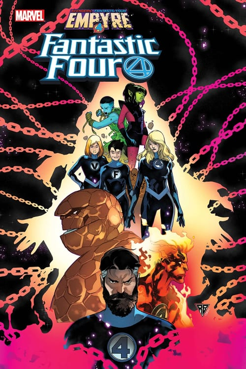 Avengers, Fantastic Four, Human Torch, Black Panther, Captain Marvel, Invisible Woman, Iron Man, Thing, Mr. Fantastic, Captain America, Kree, Skrulls