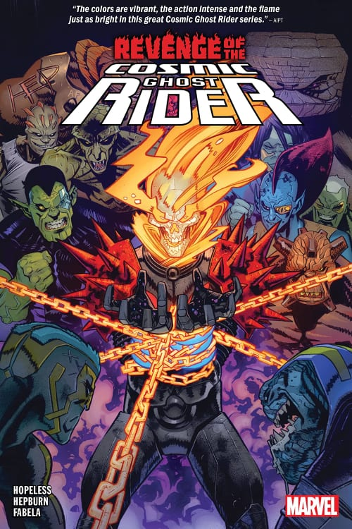 What Marvel Comics You Should Read in August, Cosmic Ghost Rider, Thanos, Frank Castle, Donny Cates, Galactus