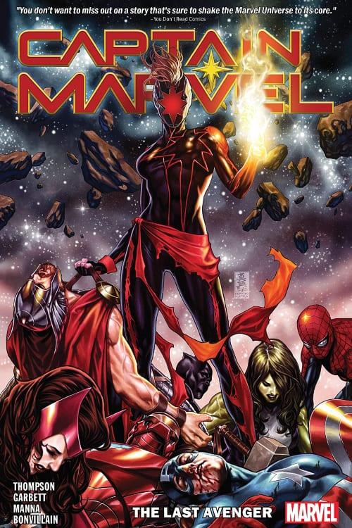 Captain Marvel, Kelly Thompson, Carol Danvers, Avengers, Last Avenger, Thor, Captain America, Iron Man