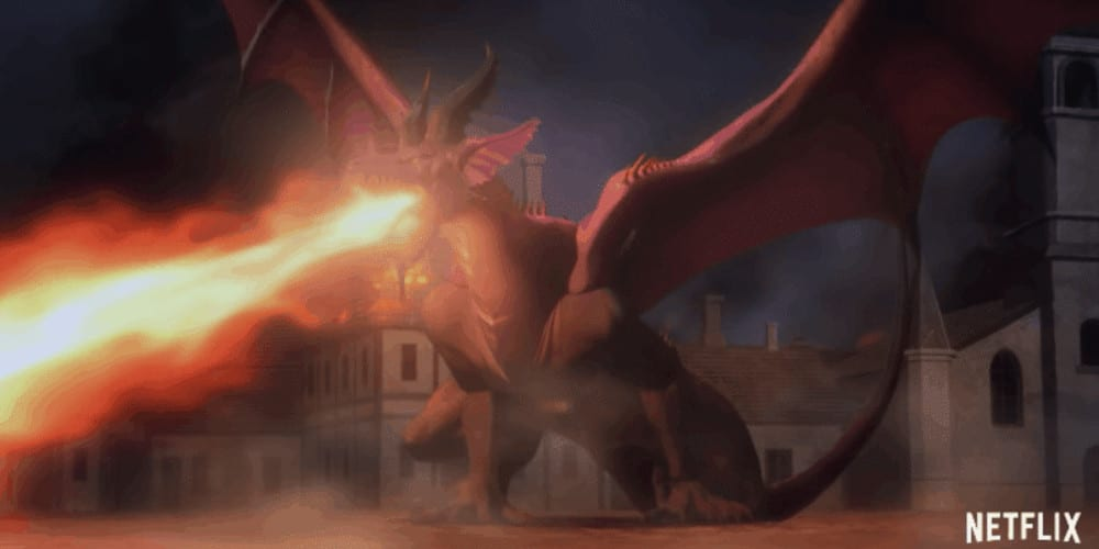 Netflixs Dragon's Dogma anime trailer dragon.