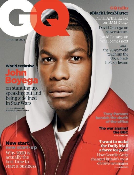 Star Wars, Finn, Movie Industry, Rey, Rose, Adam Driver, Daisy Ridley, Black Heroes, Black Lives Matter, JJ Abrmas, British GQ)