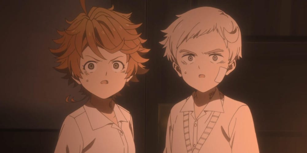 The Promised Neverland anime review Emma and Norman.