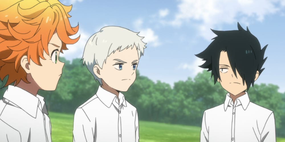 The Promised Neverland anime review Trio.