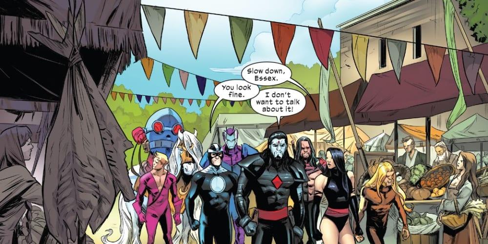 Hellions #5: X of Swords Chapter Six, Mister Sinister, Krakoa, Arakko, Havok, Psylocke, Empath, Greycrow, Orphanmaker, Otherworld, Jamie Braddock, Avalon, Capes