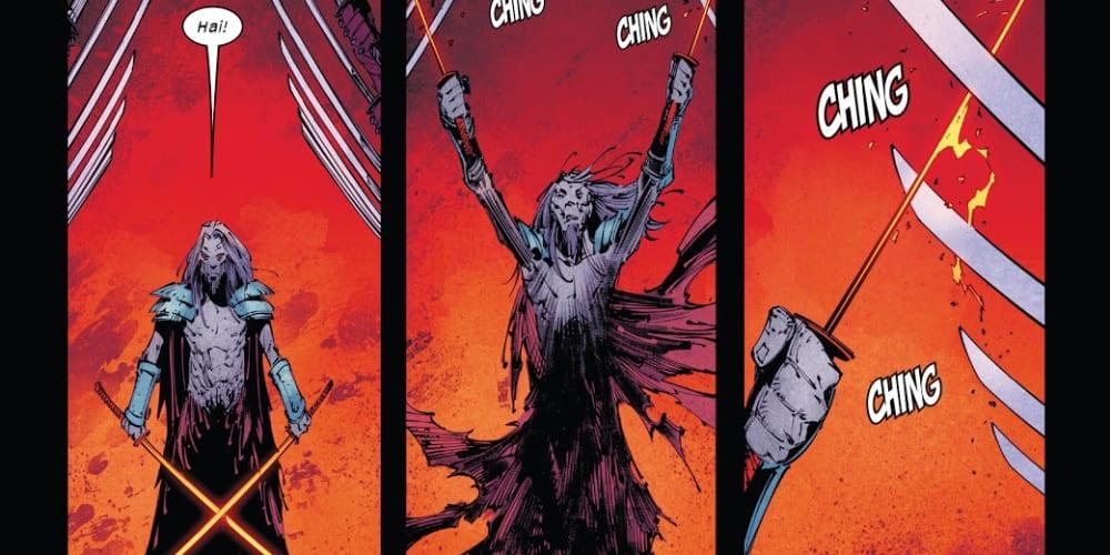 X-Force #13: X of Swords Chapter Four, Wolverine, Solem, The Hand, Daredevil, X-Men, Krakoa, Arakko, Tournament of Swords, Marauders, Hellions, X-Factor