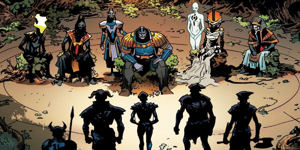 X-Men #13: X of Swords Chapter Ten, Apocalypse, Gorgon, Hope Summers, Cerebro Blade, Magneto, Marvel Comics, Krakoa, Dawn of X, Jonathan Hickman, Mutants, Arakko