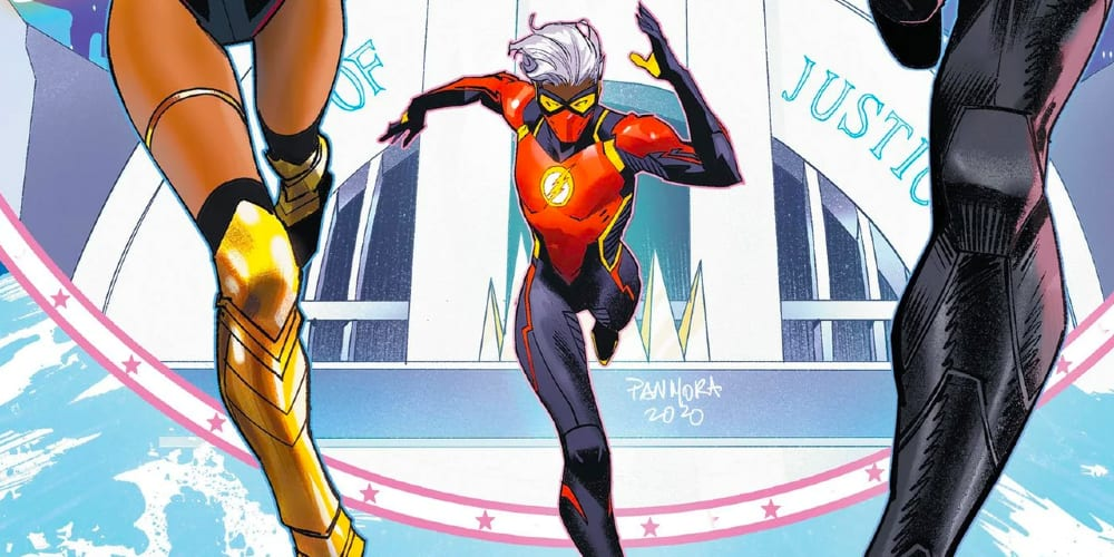 Genderfluid Flash, Future State, Non-Binary, LGBTQ+, Justice League Merry Multiverse Special, Jessica Chambers, Non-Binary, Queer Superheroes, Non-white superheroes