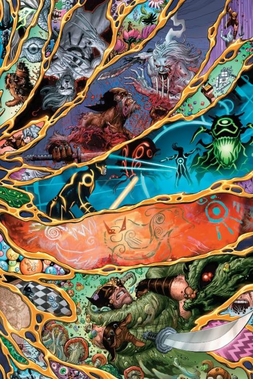 Wolverine #7: X of Swords Chapter Sixteen, X-Men, X-Force, Logan, Apocalypse, Saturnyne, Krakoa, Arakko, Okkara, Marvel Comics, Excalibur, New Mutants, X-Factor, Magik, Pogg-Ur-Pogg, Solem, Summoner, War, Otherworld, Blightspoke