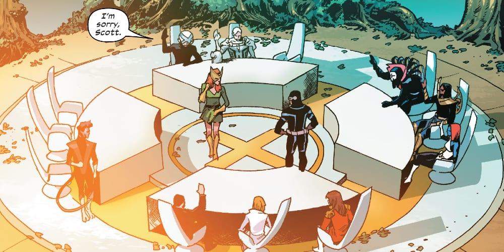 X-Force, Excalibur, X-Factor, Marauders, Jonathan Hickman, Tini Howard, Marvel Comics, Mutants, Krakoa, Arakko, Amenth, Annihilation, Apocalypse, Professor X, Cyclops, Jean Grey Nightcrawler, the Quiet Council
