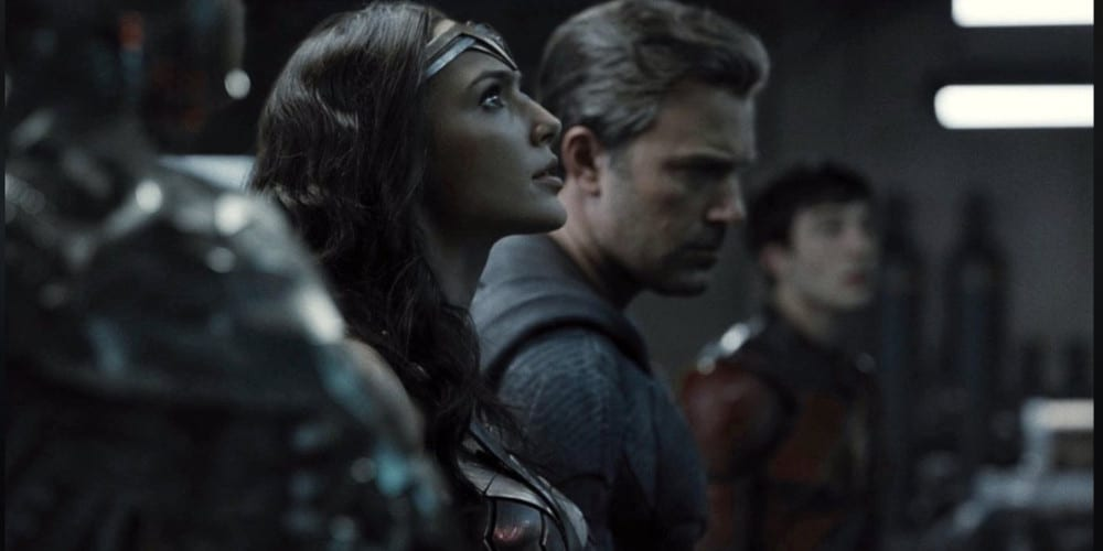 Justice League black and white trailer featured.