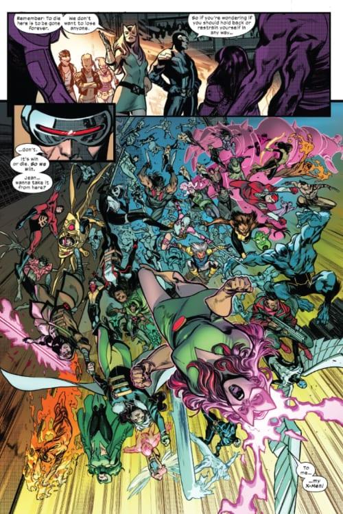X of Swords Chapter Twenty-Two: Destruction, X-Men, X-Force, Excalibur, Hellions, New Mutants, X-Factor, Cable, Wolverine, Storm, Apocalypse, Krakoa, Cyclops, Magik, Doug Ramsey, Gorgon, Captain Britain, Captain Avalon, SWORD, Magneto, Professor X, Mister Sinister, Jonathan Hickman, Tini Howard