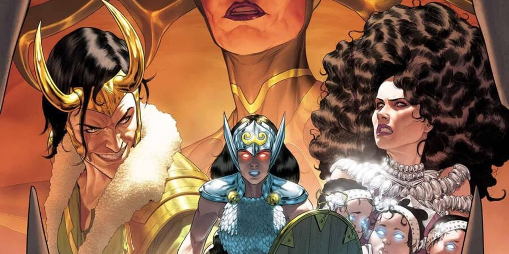 New Mighty Valkyries Series, Marvel Comics, Jason Aaron, Thor, Loki, Jane Foster, Demon Bear, Dani Moonstar, Mattia de Iulis, Torunn Grønbekk