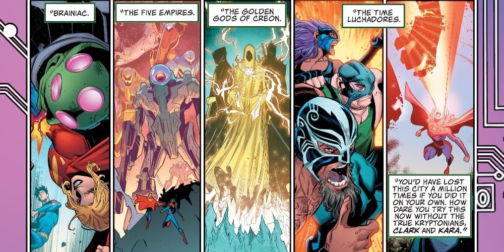 Superman of Metropolis, Wonder Woman, Swamp Thing, The Flash, The Guardian, Mister Miracle, DC Comics, Wally West, Barry Allen, Yara Flor, Sean Lewis, Brandon Easton, Joelle Jones