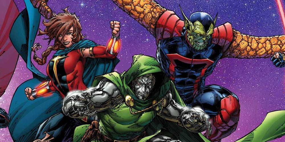 Doctor Doom Joining Guardians of the Galaxy, Al Ewing, Marvel Comics, Dr. Doom, Rocket Raccoon, Star-Lord, Drax, Gamora, Quasar, Phyla-Vell, Super-Skrull, Emperor Hulkling, Wiccan, Empyre